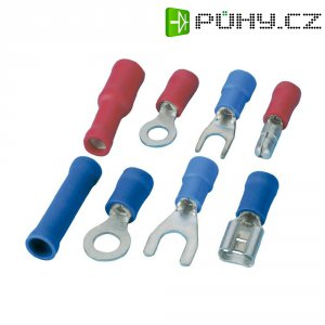 Sada autokonektorů, 6,3 mm, červená/modrá, 50 ks