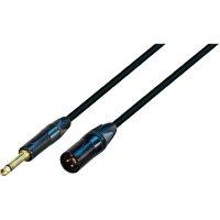 XLR kabel High-End, XLR(F)/mono jack 6,35 mm, 3 m