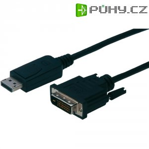 Kabel DiplayPort vidlice ⇔ DVI vidlice, 1 m, černý