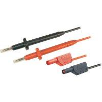 Sada měřicích kabelů banánek 4 mm ⇔ měřící hrot MultiContact, 1 m, černá/červená