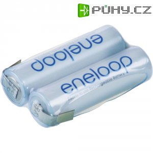 Akupack Ni-MH 2 AA Panasonic eneloop Reihe F1x2 133604, 1900 mAh, 2.4 V, pájecí kontakty