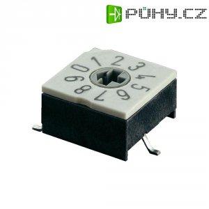 Otočný kódovací přepínač BCD Hartmann P60AS 701, max. 0,4 A