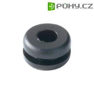 Průchodka HellermannTyton HV1218-PVC-BK-M1, 633-02180, 9,0 x 4,0 mm, černá