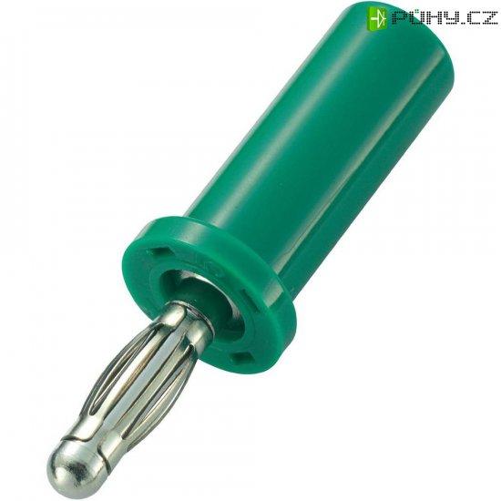 Lamelový konektor Ø 4 mm SCI, zástrčka rovná, zelená - Kliknutím na obrázek zavřete