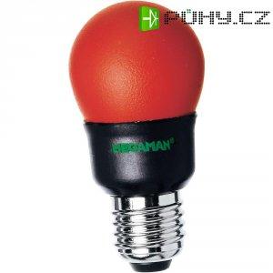 Úsporná žárovka kulatá MegamanParty Color E27, 7 W, červená