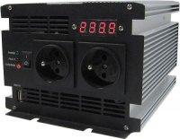 Měnič 12V/230V+UPS 600W,čistá sinusovka, JYINS, nefunkční jen display