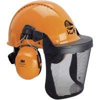 Lesnická ochranná helma 3M G3000M, XA007707376, oranžová