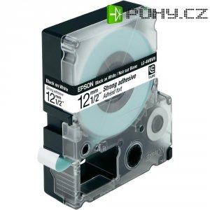 Páska do štítkovače LabelWorks LC-4WBW9, C53S625411, bílá/černá, 12 mm