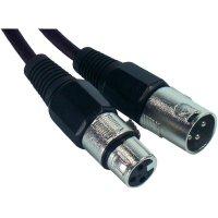 XLR kabel, XLR(F)/XLR(M), 15 m, černá