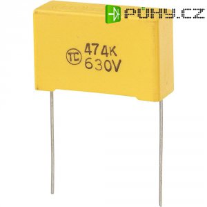 Foliový kondenzátor MKS, 0,47 µF, 630 V, 5 %, 32 x 11 x 20 mm