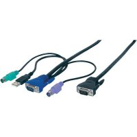 KVM kabel Digitus pro KVM přepínače DC-13101, 5 m, černá