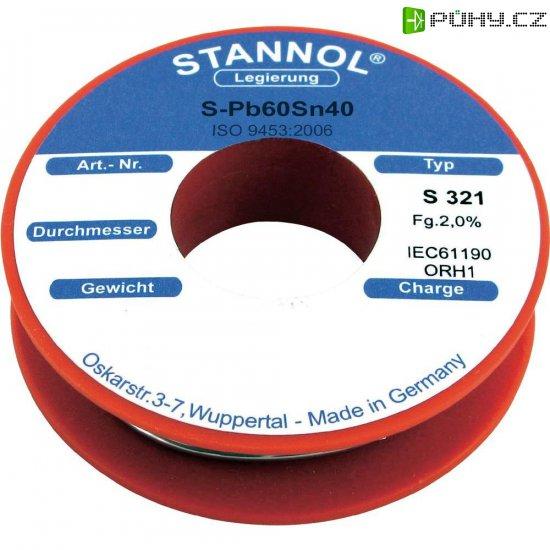 Cínová pájka, Pb60Sn40, Ø 2 mm, 100 g, Stannol S321 - Kliknutím na obrázek zavřete