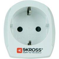 Cestovní adaptér Skross, 1.500205, Švýcarsko, bílá