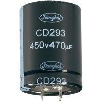 Elektrolytický Snap In kondenzátor Jianghai ECS1JBZ332MT6P22535, 3300 µF, 63 V, 20 %, 35 x 25 mm