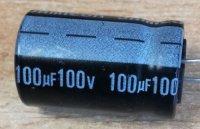100u/100V 85° 13x22x5mm, elektrolyt.kondenzátor radiální