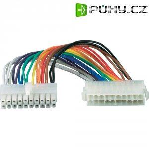 Napájecí kabel základní desky Goobay, 1x ATX zástrčka 20pól.⇔1x ATX zásuvka 20pól., 0,2 m