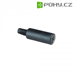 Mini DIN konektor BKL 0204010 (204010), zásuvka rovná, 4pól., černá