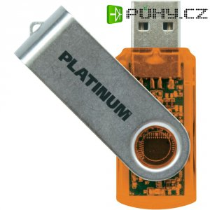Flash disk Platinum Twister 64GB oranžový