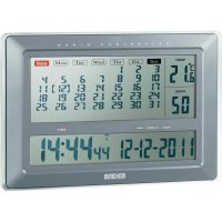 Digitální nástěnné DCF hodiny s kalendářem Eurochron Jumbo EFWU 222, 445 x 306 x 43 mm
