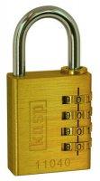 Visací zámek na heslo Kasp K11020D, zlatožlutá