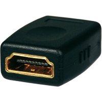 SpeaKa HDMI prodlužovací kabel, zástrčka/zástrčka, 0,3 m + adaptér zásuvka/zásuvka
