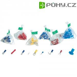 Velká sada krimpovacích konektorů a spojek různých typů, 700 ks, bílá, žlutá, červená, modrá, kov