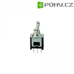 Páčkový spínač pro DPS 621C, 60 V/DC, 0.15 A, 1x zap/vyp/zap, 1 ks