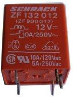 Relé Schrack ZF132012, 12V, přepínací kontakt 250V~/10A