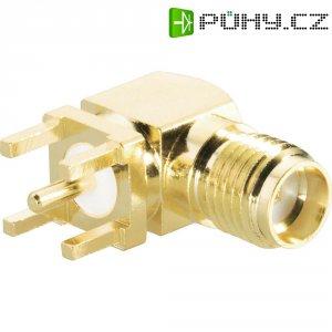 SMA konektor BKL 409071, 50 Ω, zásuvka vestavná úhlová do DPS