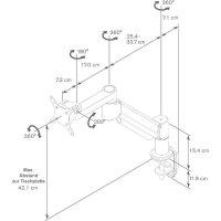 """Stolní držák monitoru Vogel`s, 38 - 68,6 cm (15\"""" - 27\"""") PFD8543"""