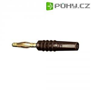 Lamelový konektor Ø 2 mm MultiContact 22.2618-27, zástrčka rovná, hnědá