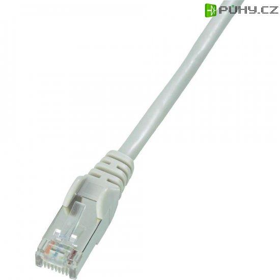 Patch kabel, CAT 5e SF/UTP, RJ45, vidlice ⇔ vidlice, šedá, 3 m - Kliknutím na obrázek zavřete