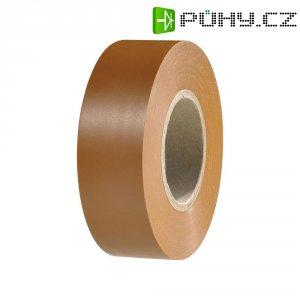 Izolační páska HellermannTyton HelaTapeFlex 15, 710-00129, 19 mm x 25 m, hnědá