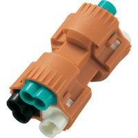 Kabelová spojka, 0,824 - 3,307 mm², 480 V/AC, 3 A, oranžová