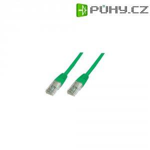 Patch kabel CAT 5e U/UTP RJ 45, vidlice ⇔ vidlice, 0,25 m, zelený