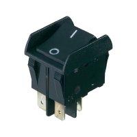 Bezpečnostní klopný spínač s kontrolkou - černý/zelený