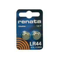 Knoflíková baterie Renata AG13, velikost LR 44, alkalicko-manganová, 110 mAh, 1,5 V, 2 ks