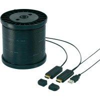 HDMI LWL hybridní kabel Speaka, 491107, HDMI zástrčka ⇔ HDMI zástrčka, 50 m