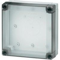 Polykarbonátové pouzdro MNX Fibox, (d x š x v) 130 x 130 x 50 mm, šedá (MNX PC 125/50 LT)