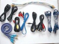 Audio-video kabely - sada 1, balení 10ks, DOPRODEJ