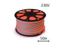 LED neon flexi hadice 230V 92LED/m 7W/m červená (50m)