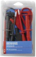 Sada měřicích kabelů banánek 4 mm ⇔ banánek 4 mm Benning TA 3, 1 m, černá/červená
