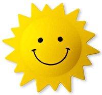 Dětské nástěnné svítidlo, slunce