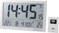 Digitální nástěnné DCF hodiny Jumbo, 368 x 30 x 230 mm