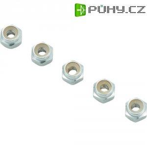 Hliníková samojistící matice M2, 10 ks, stříbrná