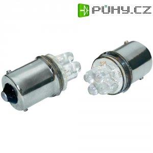 LED žárovka Eufab, 13464, 12 V, BA15s, červená, 2 ks