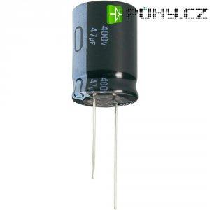 Kondenzátor elektrolytický Jianghai ECR2GLK100MFF501020, 10 µF, 400 V, 20 %, Ø 10 mm, výška 20 mm