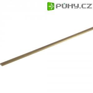 Mosazný profil plochý 500 x 3 x 7 mm