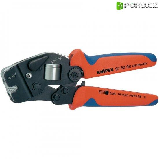 Samonastavitelné krimpovací kleště pro dutinky Knipex 97 53 09, rozsah 0,08 - 10 mm² + 16 mm² - Kliknutím na obrázek zavřete