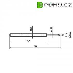 Zkušební hrot PTR 1015-B-0.7N-AU-0.75